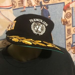 Vintage Felt Panmunjom Korean War USA Military Hat